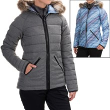 Burton Vesta Snowboard Jacket - Insulated, Reversible (For Women) in High Rise Heather - Closeouts