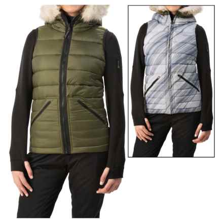 Burton Vesta Snowboard Vest - Insulated, Reversible (For Women) in Olive Night - Closeouts