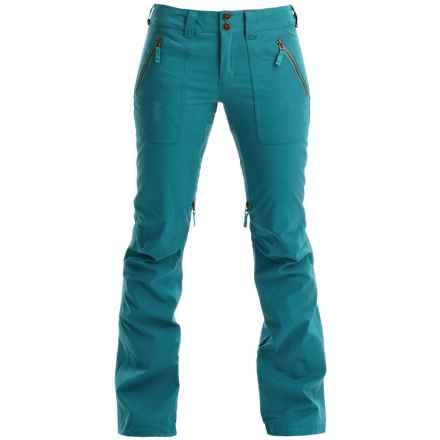 Burton Vida Snowboard Pants - Waterproof, Slim Fit (For Women) in Tahoa Enzyma Wash - Closeouts