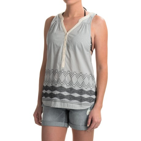 Burton Waterbury Tank Top (For Women) in Dove Heather Ethnic Embrodery