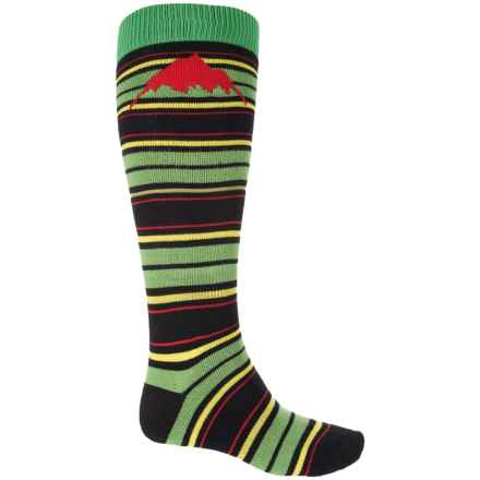 Burton Weekend Snowboard Socks - Over the Calf (For Men) in One Love Stripe - 2nds