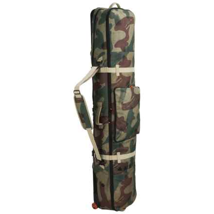 Burton Wheelie Board Case Snowboard Bag in Denison Camo - Closeouts