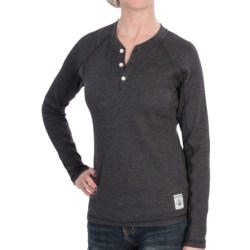 Burton Winhall Henley Shirt - Long Sleeve (For Women) in True Black