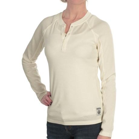Burton Winhall Henley Shirt - Long Sleeve (For Women) in Vanilla Ice