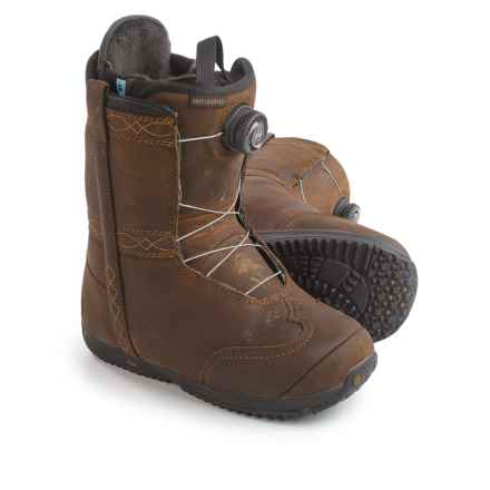 Burton X Frye BOA® Snowboard Boots - Leather (For Women) in Folklore - Closeouts