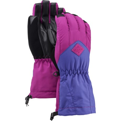 Burton Youth Profile Gloves - Touchscreen Compatible (For Little and Big Girls) in Grapeseed/Sorcerer