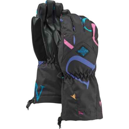 Burton Youth Profile Gloves - Touchscreen Compatible (For Little and Big Girls) in Monogram - Closeouts