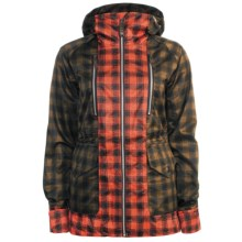 Burton Zephyr Jacket - Waterproof, 3L (For Women) in Brunette/Ember Check Plaid - Closeouts