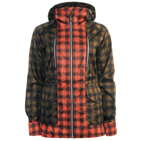 Burton Zephyr Jacket - Waterproof, 3L (For Women) in Brunette/Ember Check Plaid