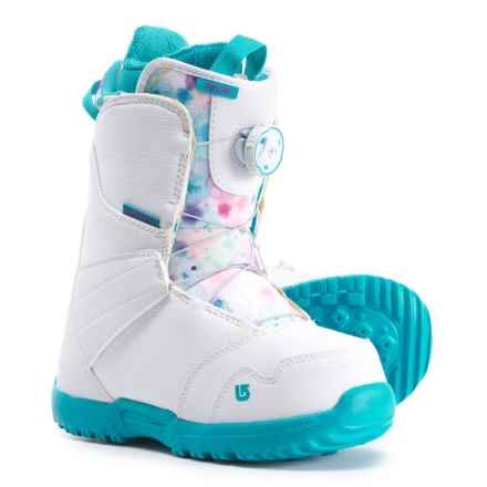 Burton Zipline BOA® Snowboard Boots (For Youth) in White/Frostberry - Closeouts
