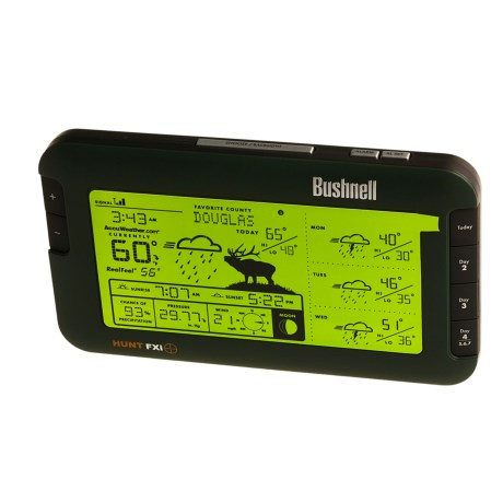 Bushnell Hunter's Wireless Weather Station - Accesses Accuweather.Com in See Photo