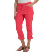 Button-Cuff Ankle Pants (For Women) in Bright Pink - 2nds