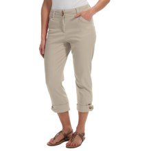 Button-Cuff Ankle Pants (For Women) in Tan - 2nds