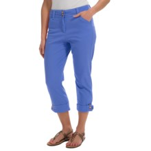 Button-Cuff Ankle Pants (For Women) in Violet Blue - 2nds