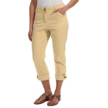 Button-Cuff Ankle Pants (For Women) in Yellow - 2nds