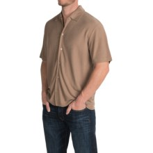Button-Down Camp Shirt - Rayon, Short Sleeve (For Men and Big Men) in Light Brown - 2nds