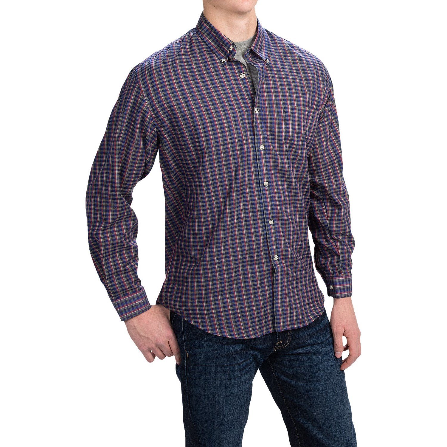button down plaid shirt for men save 85