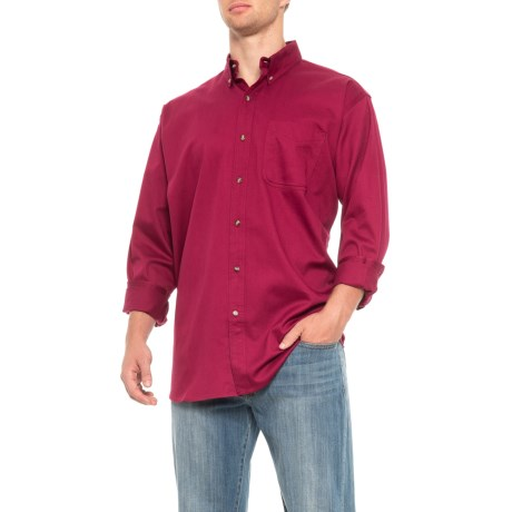 Image of Button Down Twill Shirt - Long Sleeve (For Men)