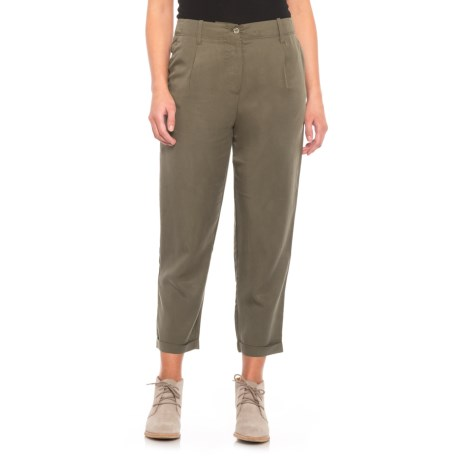 Image of Button Front Capris (For Women)