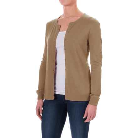 Button- Front Cardigan Sweater (For Women) in Brown - 2nds
