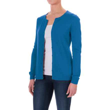 Button- Front Cardigan Sweater (For Women) in Dark Blue - 2nds