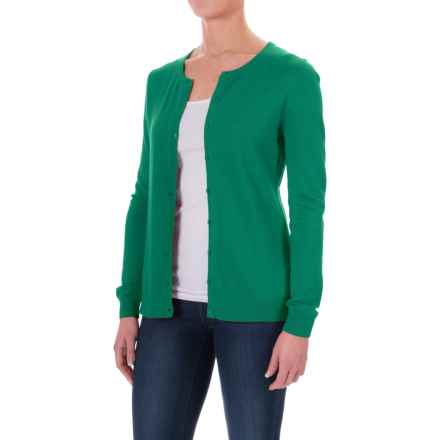 Button- Front Cardigan Sweater (For Women) in Green - 2nds
