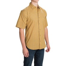 Button Front Shirt - Short Sleeve (For Men) in Mustard Blue - 2nds