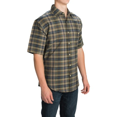 Button Front Shirt - Short Sleeve (For Men)