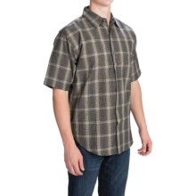 Button Front Shirt - Short Sleeve (For Men) in Wolf - 2nds