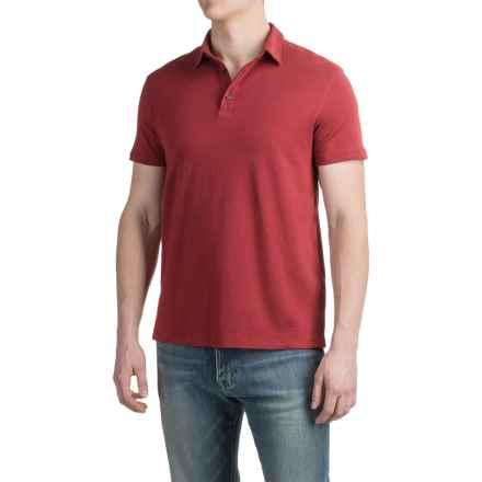 Buttoned Polo Shirt - Short Sleeve (For Men) in Maroon - 2nds