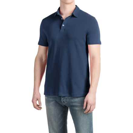 Buttoned Polo Shirt - Short Sleeve (For Men) in Navy - 2nds
