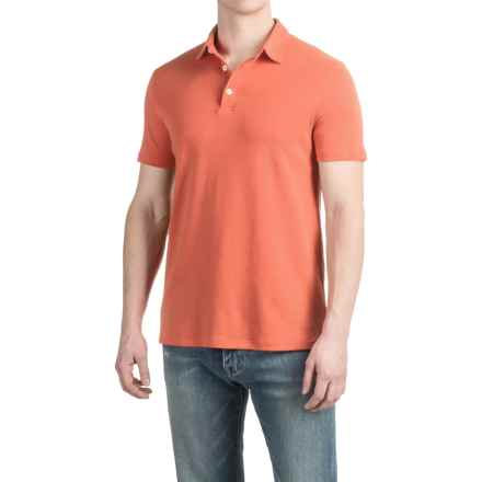 Buttoned Polo Shirt - Short Sleeve (For Men) in Orange Sorbet - 2nds