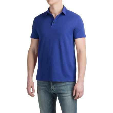 Buttoned Polo Shirt - Short Sleeve (For Men) in Royal - 2nds