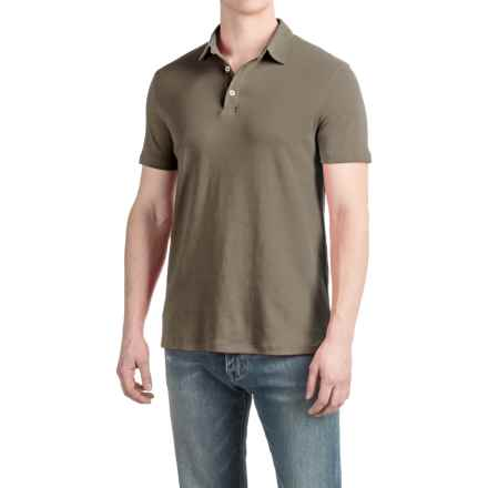 Buttoned Polo Shirt - Short Sleeve (For Men) in Taupe - 2nds