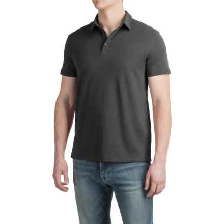 Buttoned Polo Shirt - Short Sleeve (For Men) in Vintage Black - 2nds