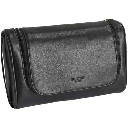 Buxton Addison U-Zip Hanging Travel Kit - Leather (For Men) in Black - Closeouts