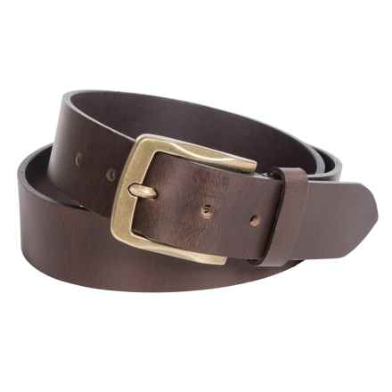 Buxton Campfire Jean Belt - Tanned Buffalo Leather (For Men) in Cognac - Closeouts