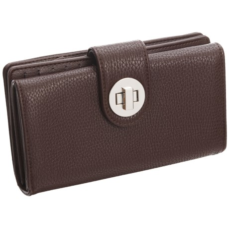 Buxton Collette Super Wallet - Vegan Leather (For Women) in Brown