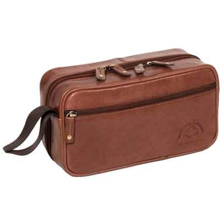 Buxton Dopp® Carson Double Zip Travel Kit in Dark Brown - Closeouts