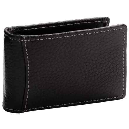 Buxton Dopp® Hudson Front Pocket Flip Clip Wallet - Leather, RFID (For Men) in Black - Closeouts