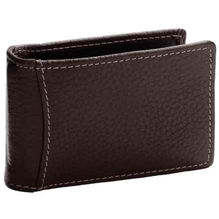 Buxton Dopp® Hudson Front Pocket Flip Clip Wallet - Leather, RFID (For Men) in Brown - Closeouts