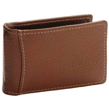 Buxton Dopp® Hudson Front Pocket Flip Clip Wallet - Leather, RFID (For Men) in Tan - Closeouts