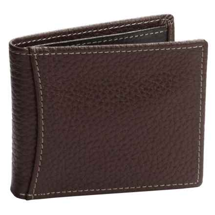 Buxton Dopp® Hudson Front Pocket Slimfold Wallet - Leather, RFID (For Men) in Brown - Closeouts