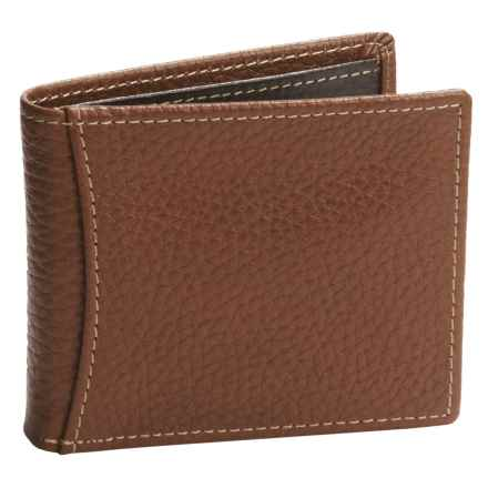 Buxton Dopp® Hudson Front Pocket Slimfold Wallet - Leather, RFID (For Men) in Tan - Closeouts