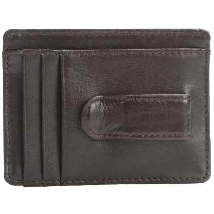 Buxton Dopp® Regiment Front Pocket Wallet with Money Clip - Leather (For Men) in Brown - Closeouts