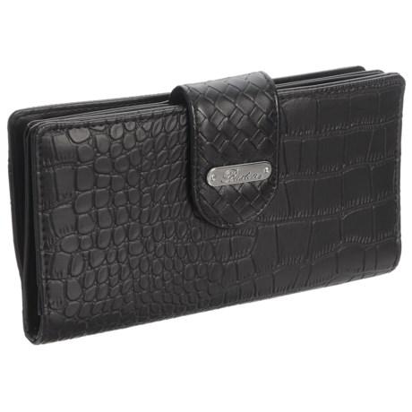 Buxton Everglades Croco Super Wallet (For Women) in Black