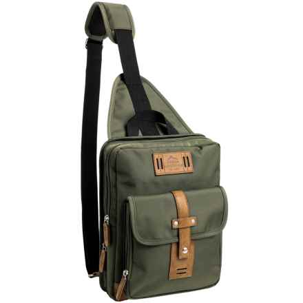 Buxton Expedition 2 Sling Backpack in Olive - Closeouts