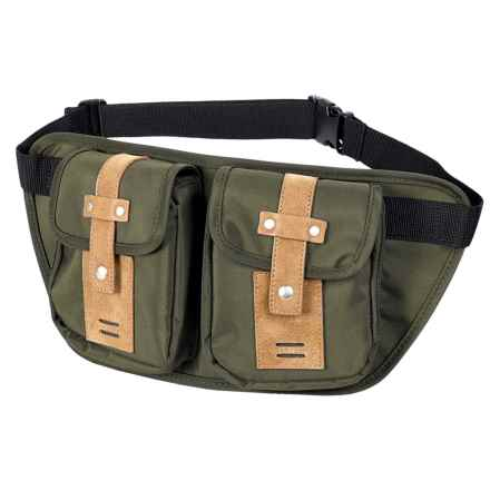 Buxton Expedition 2 Trekker Belt Bag in Olive - Closeouts