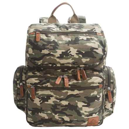 """Buxton Expedition II Huntington Backpack - 15"""" Laptop Sleeve in Camo - Closeouts"""