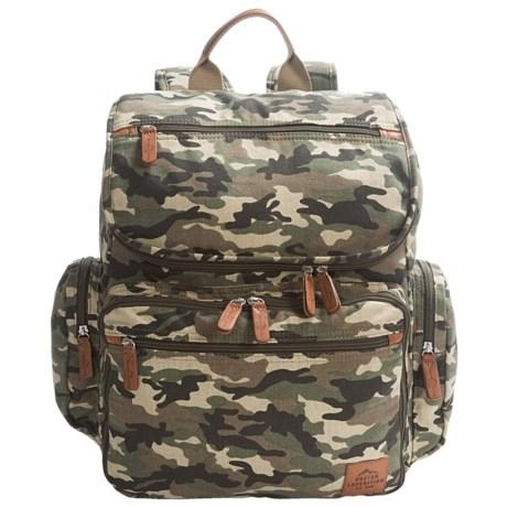 "Buxton Expedition II Huntington Backpack - 15"" Laptop Sleeve in Camo"